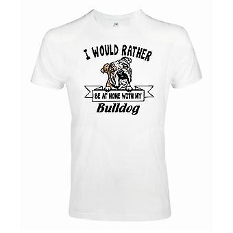 Bulldog Squinting Dog T-Shirt - Liever met ...