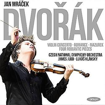Dvorak / Mazurek / Mracek, Jan - Violin Concerto / Romance in F / Op49 / Four [CD] USA import