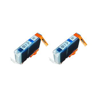 RudyTwos 2x Replacement for Canon BCI-6C Ink Unit Cyan Compatible with PIXMA iP4000, iP5000, MP750, MP780, i865