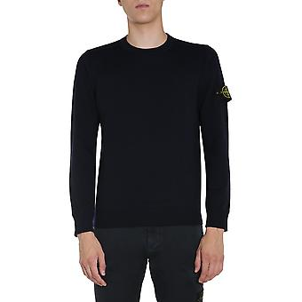 Stone Island 7315526c4v0020 Men's Blue Wool Sweater