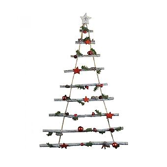 Hanging Wooden Ladder Tree Christmas Decoration