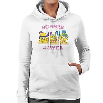The Simpsons Summer 4 Ever Women's Hooded Sweatshirt