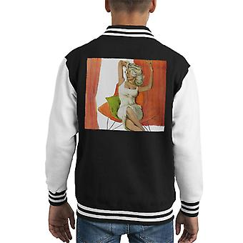 The Saturday Evening Post Coby Whitmore Portrait Kid's Varsity Jacket