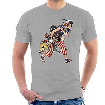 Lørdag aften Post Liberty Girl Norman Rockwell Mænd's T-shirt