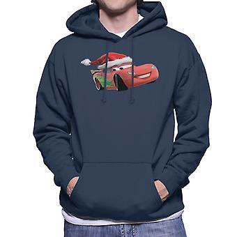Disney Cars Christmas Lightning McQueen Men-apos;s Sweatshirt à capuchon