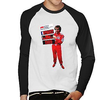 Motorsport Images Alain Prost Formula One World Championship 1989 Men's Camiseta de manga larga de béisbol