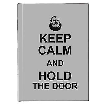 Hodor mantener la calma y mantener la puerta juego de Tronos Hardback Journal