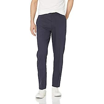 Goodthreads Men's Athletic-Fit Wrinkle Free Dress Chino Pant, Navy, 32W x 33L