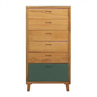 Rebecca Furniture Madia Dresser 6 Modern Green White Wood Drawers 119x60x45