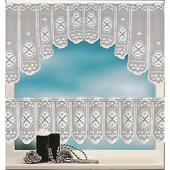European White Translucent Lace Sheer Curtains - Tulle Lace Sheer Jacquard