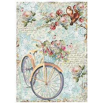 &נייר אורז A4 אופניים ענף עם זרמים (DFSA4238)