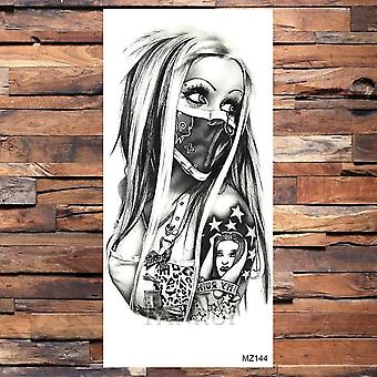Black Weapon Gun Ak47 Tattoo Stickers Women Arm Art Lovers - Cool Temporary