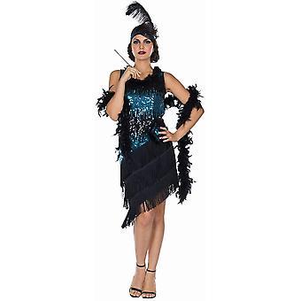 Charleston Femmes Flapper 20 Années Costume Robe à franges