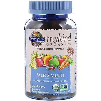 Garden of Life, MyKind Organics, Men's Multi, Organic Berry, 120 Vegan Gummy Dro
