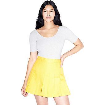 American Apparel Women's Cotton Spandex Short Sleeve Scoop Back Bodysuit, Hea...