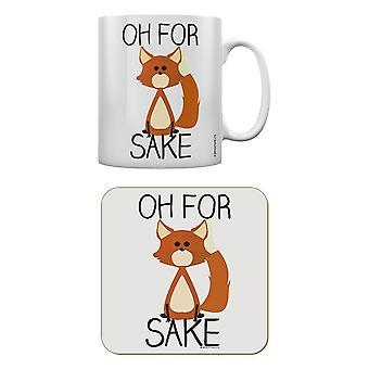 Grindstore Oh for Fox sake mug & Coaster sæt