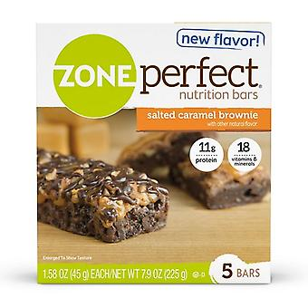 Zone Perfect Nutrition Bars Caramel Brownie salé