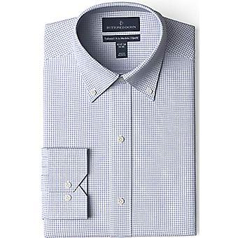 BUTTONED DOWN Miehet&s Tailored Fit Button-Collar Pattern Ei-iron mekko paita, ...