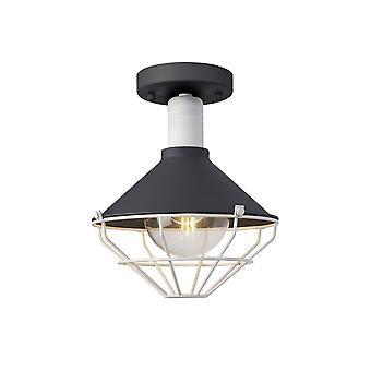 Luminosa-valaistus - Puolihuuhtelukatto, 1 valo E27, IP65, Antrasiitti, Matt White