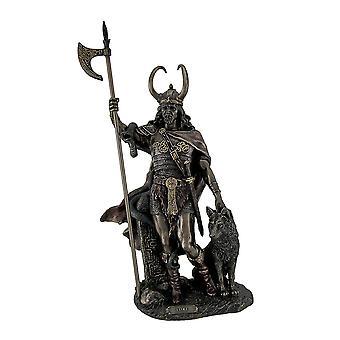 Bronze-Finish Loki nordischen Gott Statue Skulptur