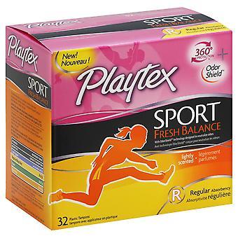 Playtex Sport Fresh Balance Légèrement parfumé Absorption régulière, 32 Count