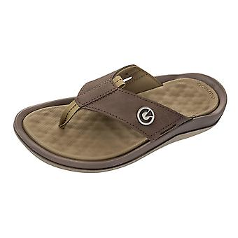 Mens Cartago Sandals Santorini Thong Beach Flip Flops - Taupe