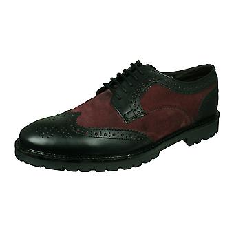 Base London Conflict Zapatos de cuero Brogue - Negro