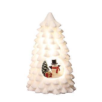 Straits LED Xmas White Tree, Snowman