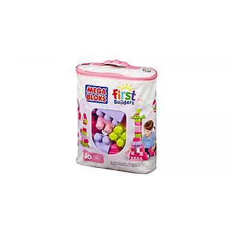 Mega Bloks First Builders Pink 60 piece bag