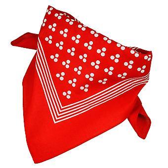 Krawatten Planet rot mit weißen 3-Punkt & Streifen Bandana Neckerchief
