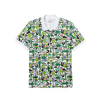 Lacoste Men's Lacoste X Jeremyville Print Polo T-Shirt Regular Fit