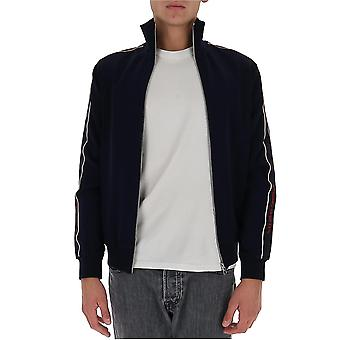 Alexander Mcqueen 625377qpr384250 Män's Blå Bomull Sweatshirt