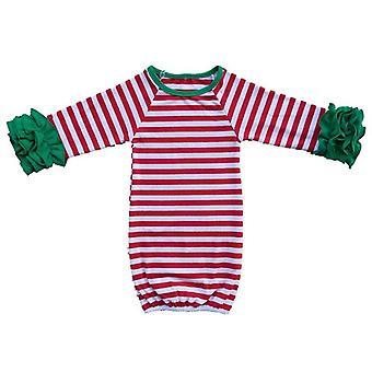 Laukku Vastasyntynyt makuusäkki Vauvan puku Röyhelö Pitkähihainen Jouluraita