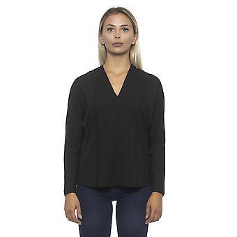 Zwarte Pullover Alpha Studio Vrouwen