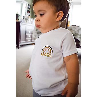 Gyerekek Rainbow Póló, Faith Shirt, nyári rövid ujjú póló szett-1