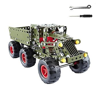 Toys Jeep, Tank, Engineering, Vehicle Assembly Car Intelligence Educational