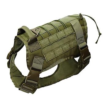 Adjustable Tactical Service Dog Vest- Training Hunting Molle Nylon