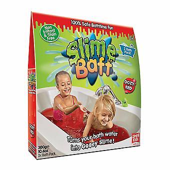 Slime Baff Harmless Bright Colours Bath Powder With Dissolver Red