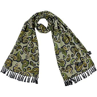 Ties Planet Tootal Shades Of Green, Navy & Ivory Paisley Men's Mod Thin Scarf