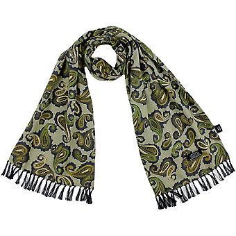 Krawatten Planet Tootal Schattierungen von grün, Marine & Elfenbein Paisley Männer's Mod dünne Schal