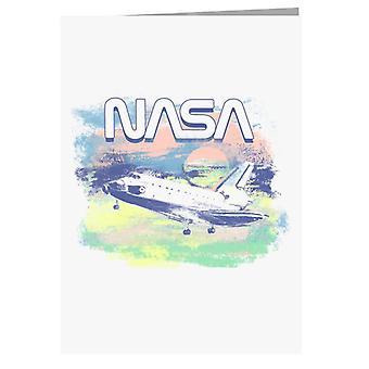 NASA:n maalattu take off -tervehdyskortti