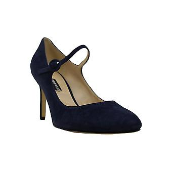 Nine West Womens Daphne Suede Round Toe Ankle Strap Classic Pumps