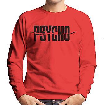 Logotipo de texto preto psicomundo men's moletom