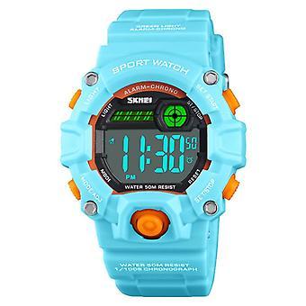 Waterdichte Lichtgevende LED Digital Touch Children horloge - Lichtblauw