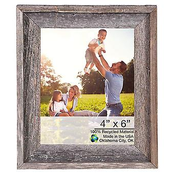"4"" x 6"" Natural Weathered Gray Picture Frame"