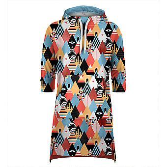 Mr. Gugu Miss Go Háromszög minta kapucnis ruha