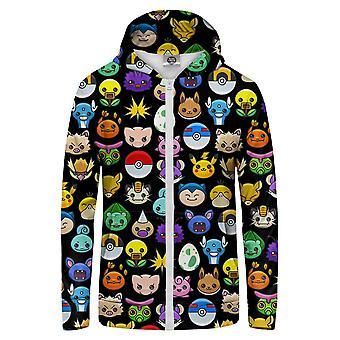 Herr GUGU & Miss GO Pokemoji Zip Up Hoodie