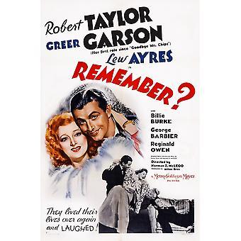 Remember Us Poster Art Top From Left Greer Garson Robert Taylor Bottom From Left Robert Taylor Greer Garson Lew Ayres 1939 Movie Poster Masterprint
