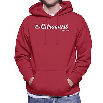 Citro�n The Citro�nst Est 1919 White Logo Men's Hooded Sweatshirt