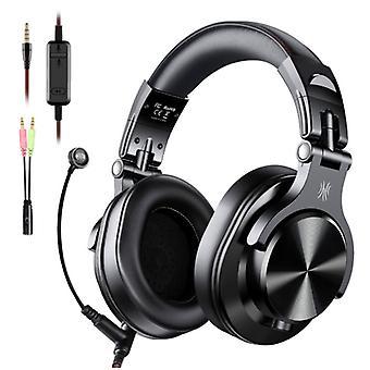 """אוזניות OneOdio A71 DJ Studio Gaming עם חיבור 6.35 מ""""מ ו-3.5 מ""""מ - אוזניות עם אוזניות מיקרופון"""